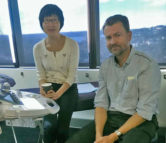 Professor Hans Peter Dietz and Assistant Professor Clara Shek at Sydney Pelvic Clinic
